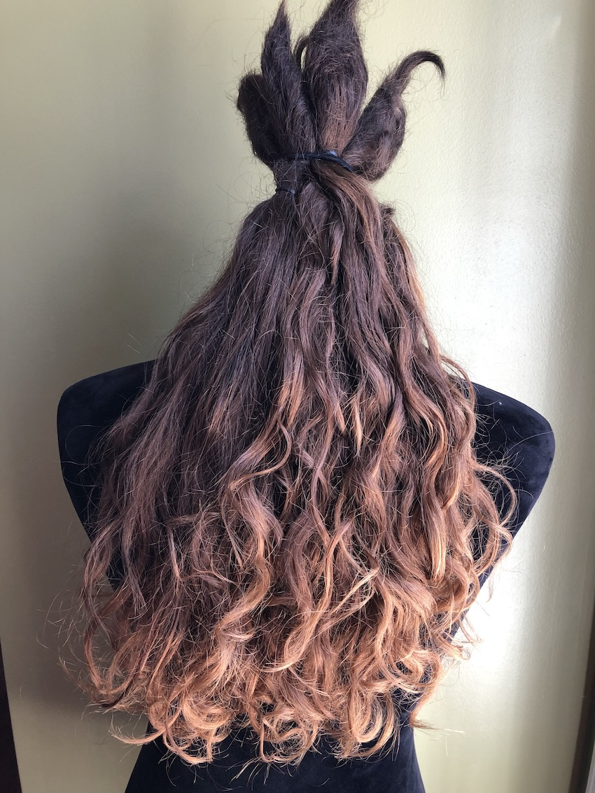 Hair inside with natural lighting, brings out red tint