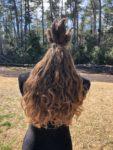 Hair outside in all natural lighting