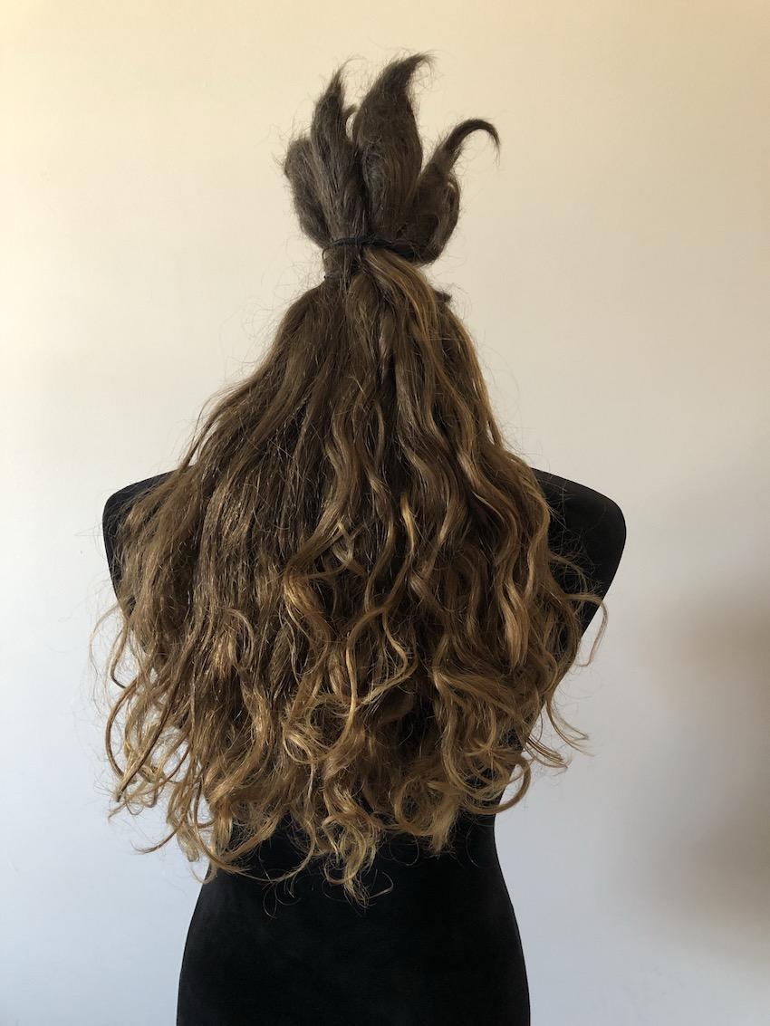 Hair inside with no lighting, looks darker