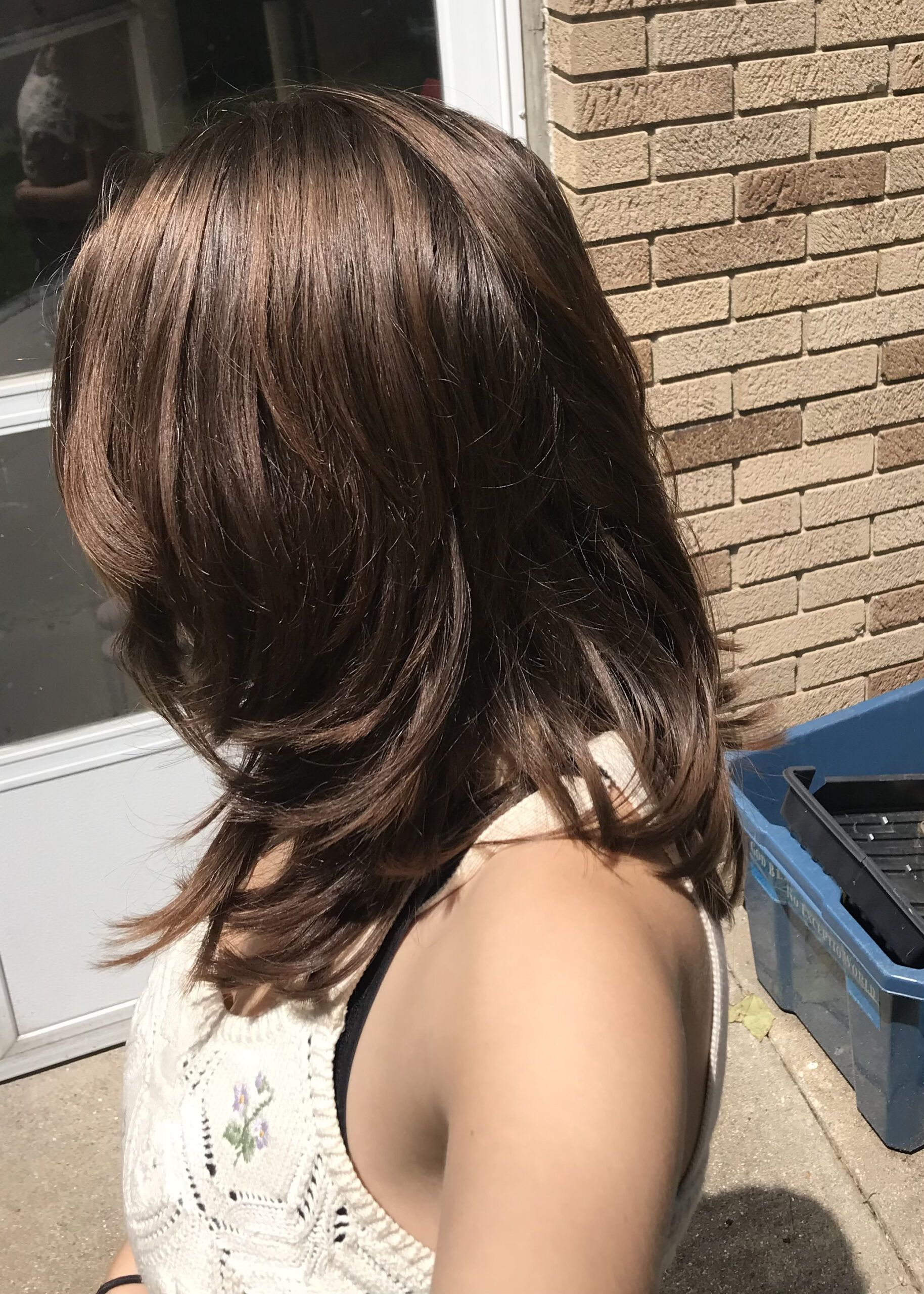 Hair after the cut